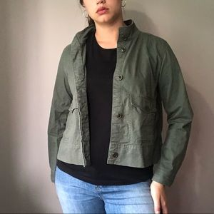 Gap Women's Jacket Army Green Size L